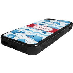 Dolphins Rubber iPhone 5C Phone Case (Personalized)