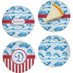 Dolphins Set of Appetizer / Dessert Plates (Personalized)
