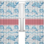Dolphins Sheer Curtains (Personalized)