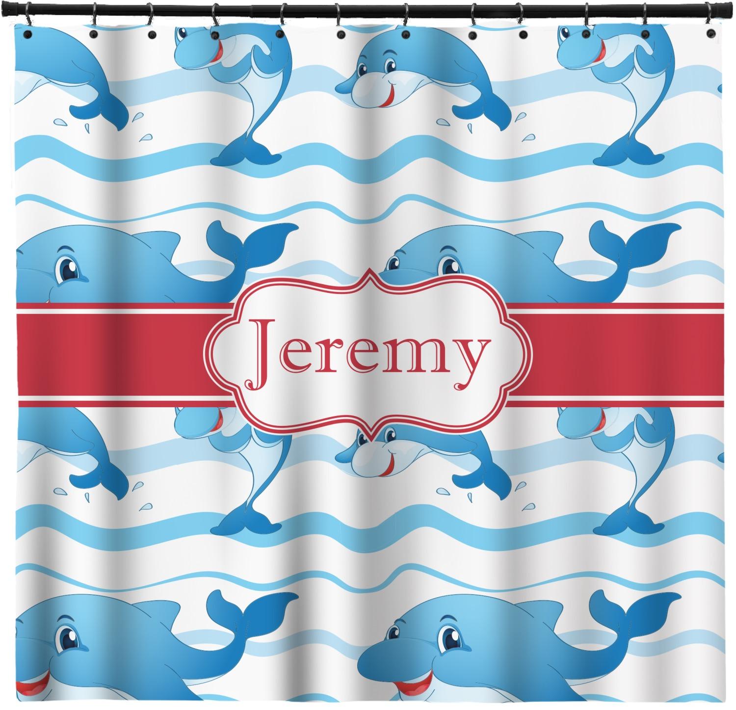 Dolphins Shower Curtain Custom Width Height Personalized Youcustomizeit