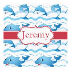 Dolphins Square Decal - Custom Size (Personalized)
