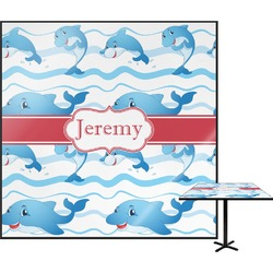 "Dolphins Square Table Top - 30"" (Personalized)"