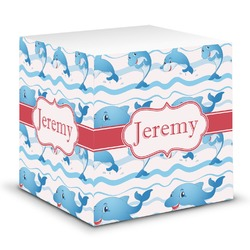 Dolphins Sticky Note Cube (Personalized)
