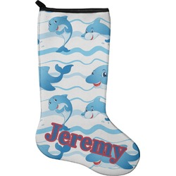 Dolphins Christmas Stocking - Neoprene (Personalized)