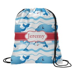 Dolphins Drawstring Backpack (Personalized)