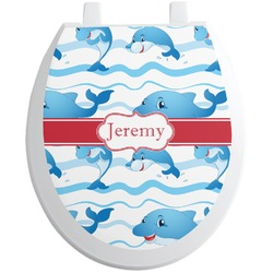 Dolphins Toilet Seat Decal (Personalized)