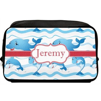 Dolphins Toiletry Bag / Dopp Kit (Personalized)