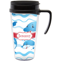 Dolphins Travel Mug with Handle (Personalized)