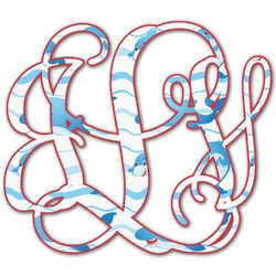 Dolphins Monogram Decal - Custom Sized (Personalized)