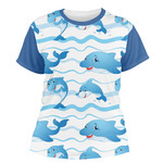 Dolphins Women's Crew T-Shirt (Personalized)