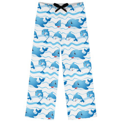 Dolphins Womens Pajama Pants - XL (Personalized)