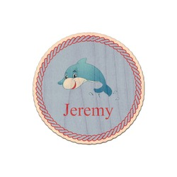 Dolphins Genuine Maple or Cherry Wood Sticker (Personalized)