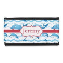 Dolphins Leatherette Ladies Wallet (Personalized)