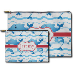 Dolphins Zipper Pouch (Personalized)