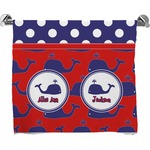 Whale Full Print Bath Towel (Personalized)
