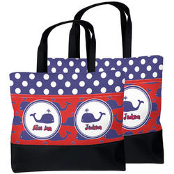 Whale Beach Tote Bag (Personalized)