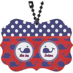 Whale Rear View Mirror Charm (Personalized)