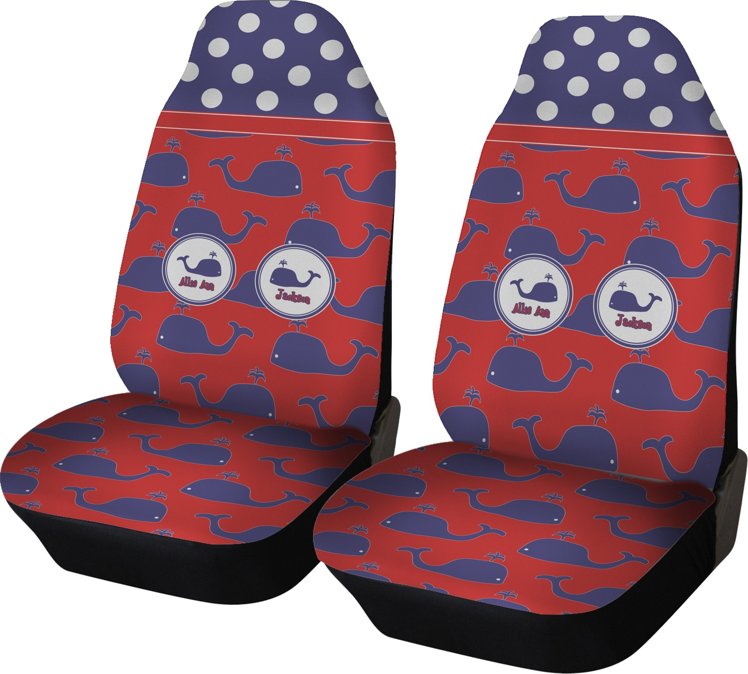 Whale Car Seat Covers Set Of Two Personalized
