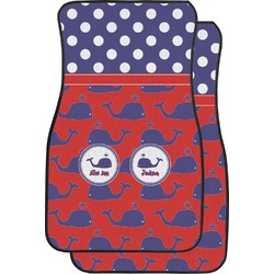 Whale Car Floor Mats (Front Seat) (Personalized)