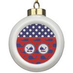 Whale Ceramic Ball Ornament (Personalized)