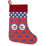 Whale Holiday Stocking w/ Name or Text