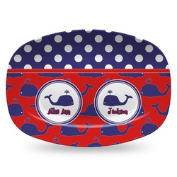 Whale Plastic Platter - Microwave & Oven Safe Composite Polymer (Personalized)