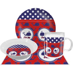 Whale Dinner Set - 4 Pc (Personalized)