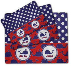 Whale Dog Food Mat w/ Name or Text
