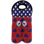Whale Wine Tote Bag (2 Bottles) (Personalized)