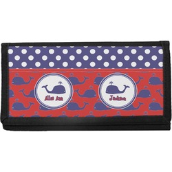 Whale Canvas Checkbook Cover (Personalized)