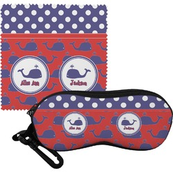 Whale Eyeglass Case & Cloth (Personalized)