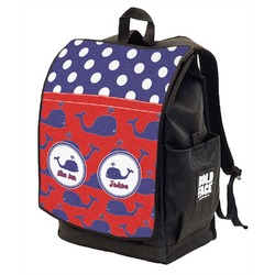 Whale Backpack w/ Front Flap  (Personalized)