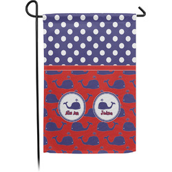 Whale Small Garden Flag - Single Sided w/ Name or Text