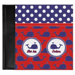 Whale Genuine Leather Baby Memory Book (Personalized)