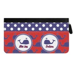Whale Genuine Leather Ladies Zippered Wallet (Personalized)