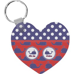 Whale Heart Keychain (Personalized)