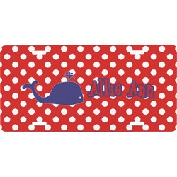 Whale Front License Plate (Personalized)