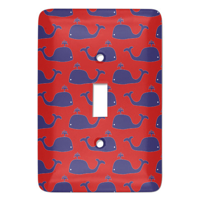 Whale Light Switch Cover (Single Toggle) (Personalized)