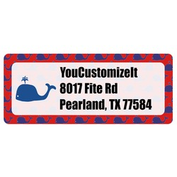 Whale Return Address Label (Personalized)