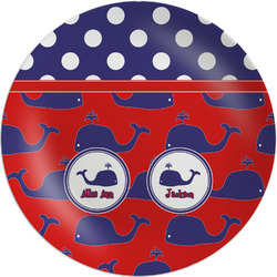 """Whale Melamine Plate - 8"""" (Personalized)"""