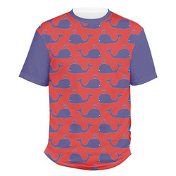 Whale Men's Crew T-Shirt (Personalized)