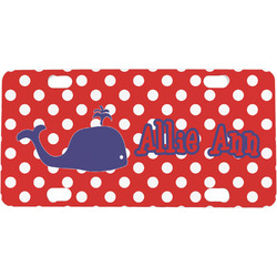 Whale Mini / Bicycle License Plate (Personalized)