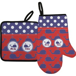 Whale Oven Mitt & Pot Holder (Personalized)