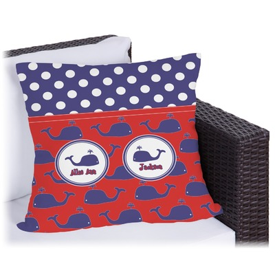 Whale Outdoor Pillow (Personalized)