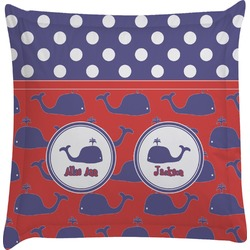 Whale Euro Sham Pillow Case (Personalized)