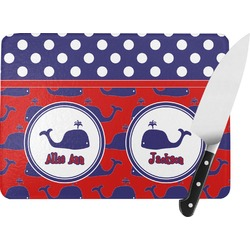 Whale Rectangular Glass Cutting Board (Personalized)