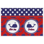 Whale Laminated Placemat w/ Name or Text
