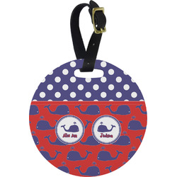 Whale Round Luggage Tag (Personalized)