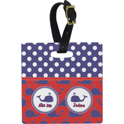 Whale Square Luggage Tag (Personalized)