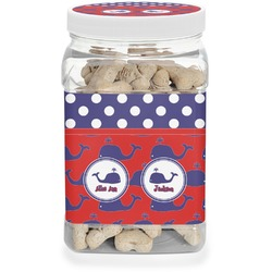 Whale Pet Treat Jar (Personalized)